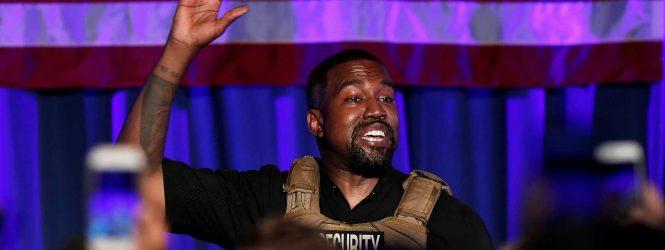 """El """"mitin político"""" de Kanye West que encendió las alarmas por su salud mental"""