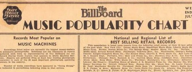 El listado Billboard cumplió 85 años: ¿Qué sonidos lideraron la primera chart musical publicada 1936?